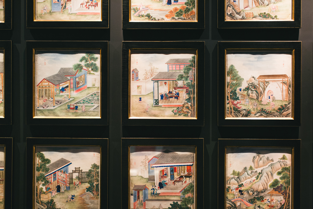 Antique Chinese paintings at Hong Kong Maritime Musuem
