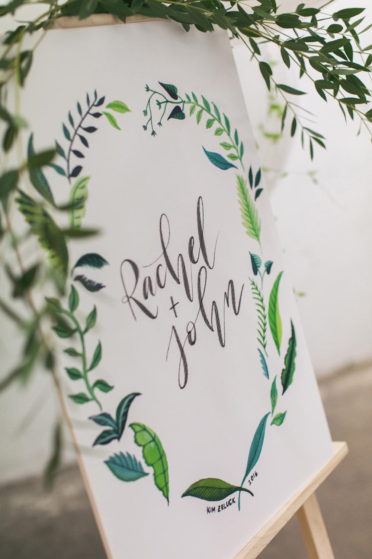Rachel and John's wedding | Calligraphy stationery design by Kim Zeluck