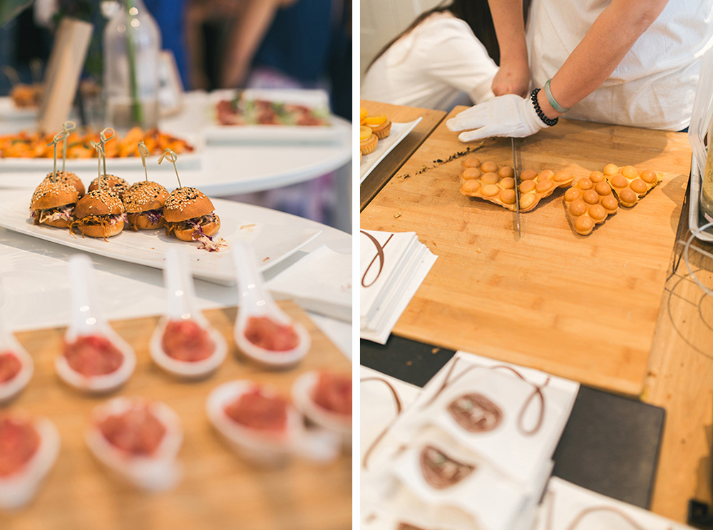 Fun Hong Kong wedding food | Pomegranate Kitchen and egg waffles from Modo's