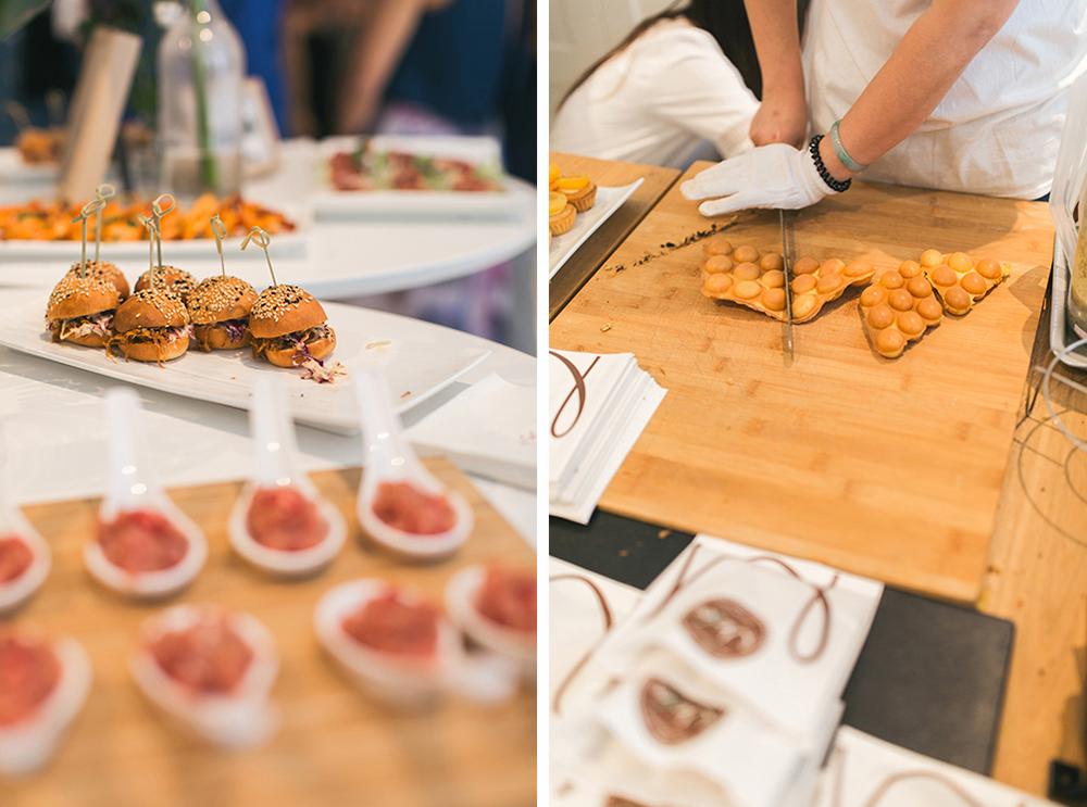 Fun Hong Kong wedding food | Pomegranate Kitchen and egg waffles from Modo's