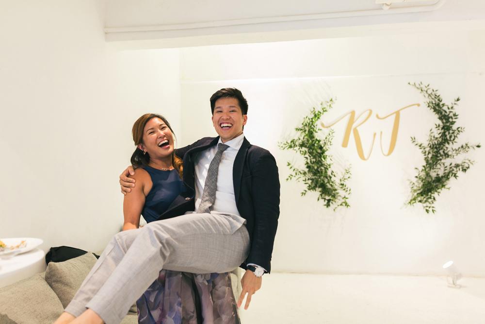 Rachel and John's wedding in Wong Chuk Hang Pomegranate Kitchen