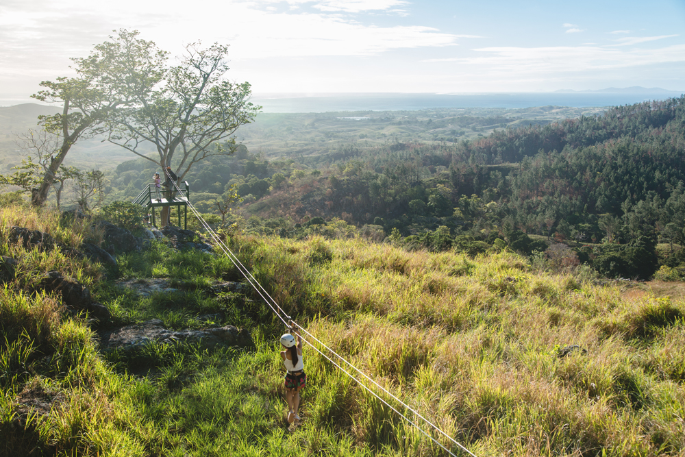 Ziplining at Tau, Fiji – forest zipline adventures