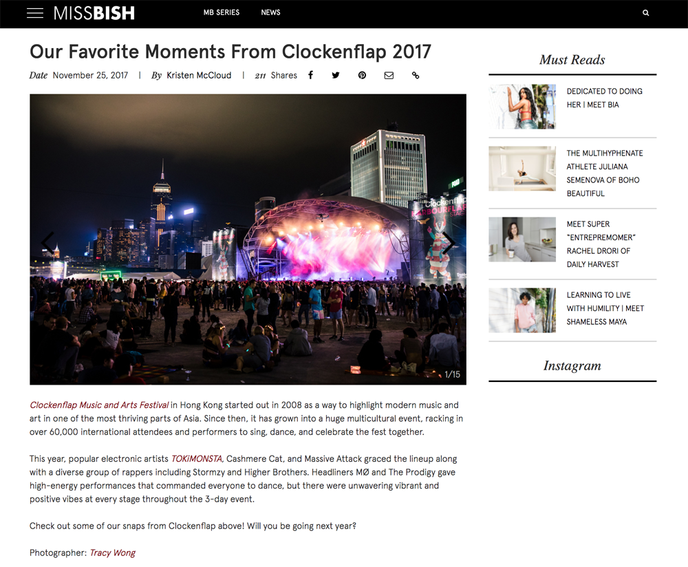 Hong Kong Clockenflap 2017 Highlights | on MISSBISH