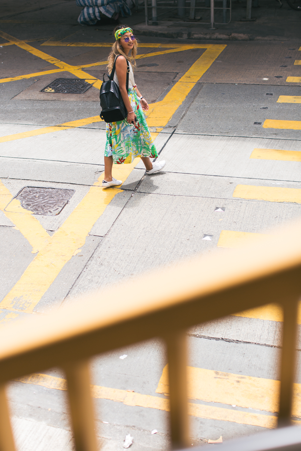 Hong Kong road crossing | fashion and lifestyle photoshoot