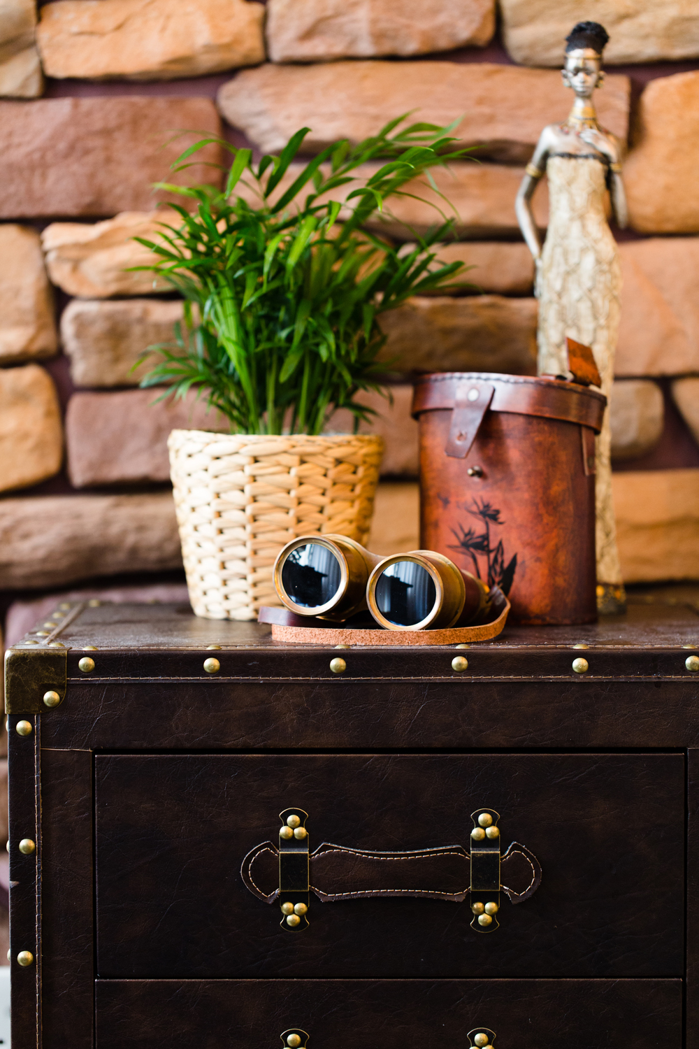 Africa Side Table Vignette | Interior Photography in Hong Kong