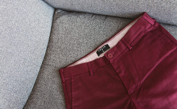 Menswear lifestyle photography | For UNCVR | Maroon Chinos