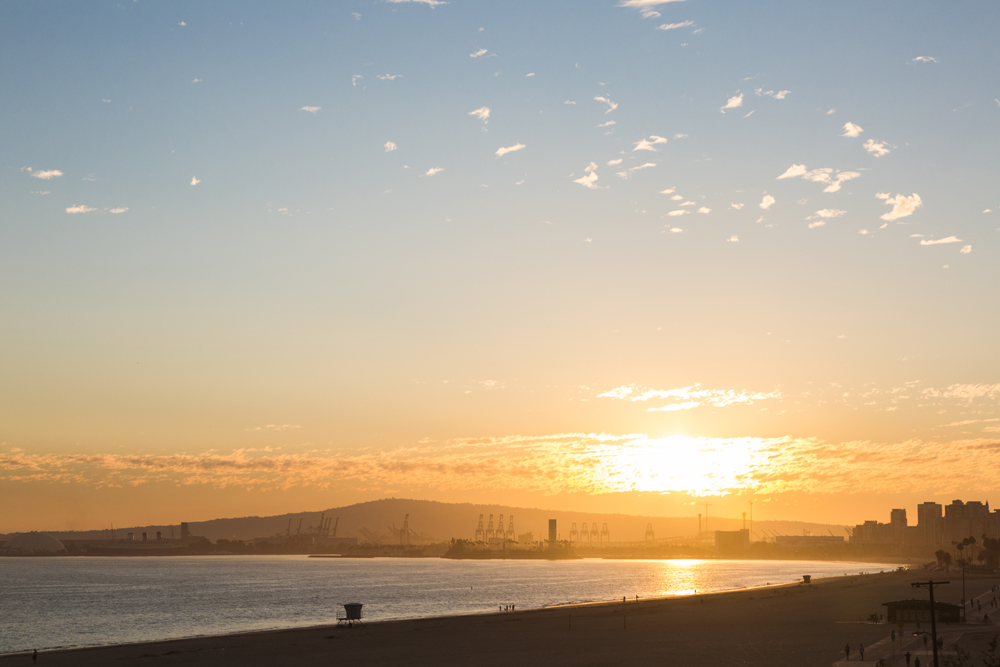 Photo of Sunset over Long Beach | Tracy Wong Photography for UNCVR