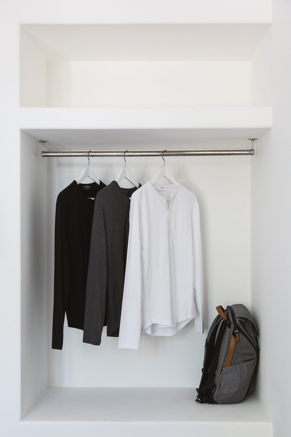Monochrome Men's Tees | Perfectly White Closet | by Tracy Wong for UNCVR