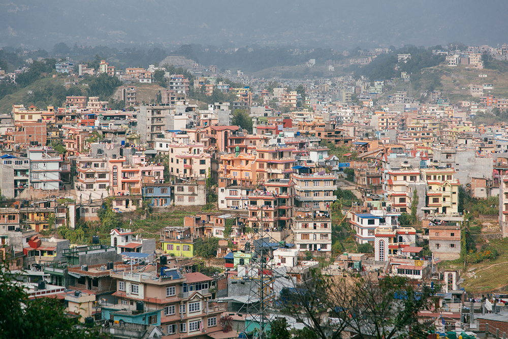 View of Kathmandu from the hills | City scape and travels | Tracy Wong