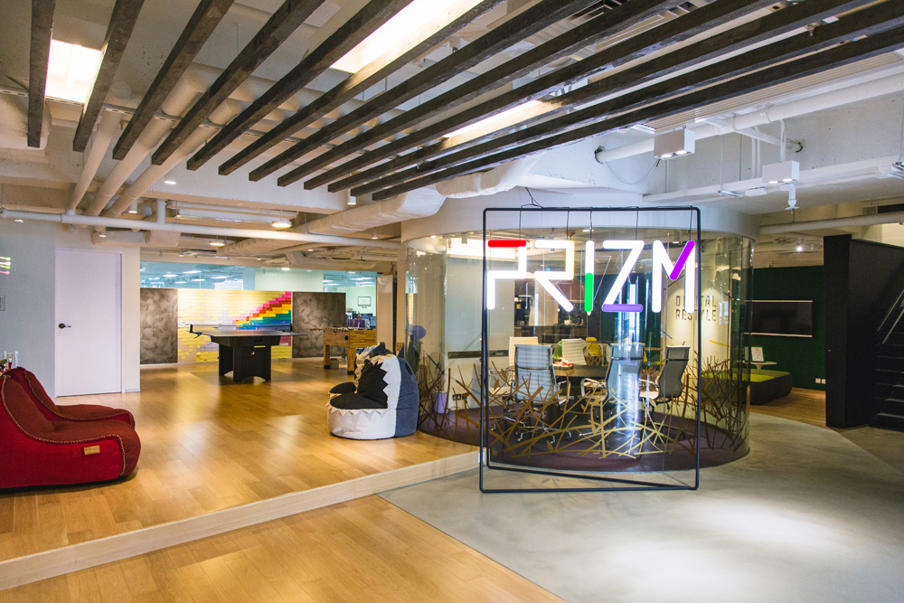 PRIZM social media agency | Colorful office entrance