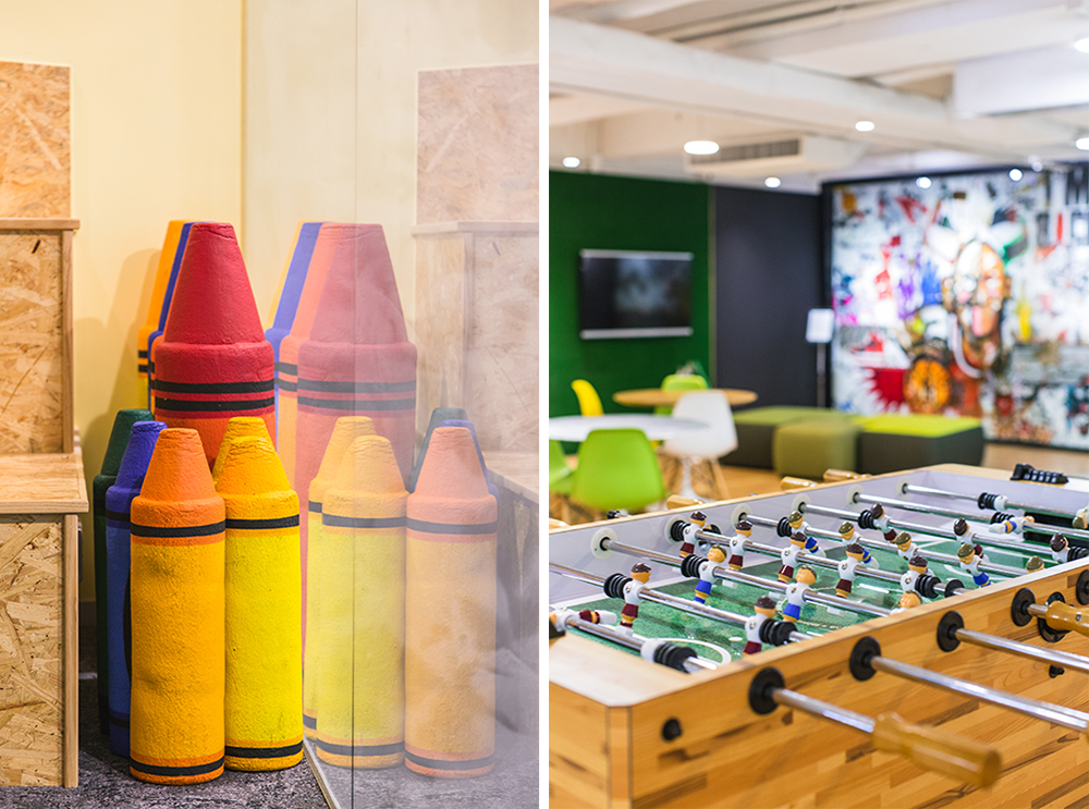 Fun office environment at PRIZM | Colors and games | Interior Photographer Hong Kong