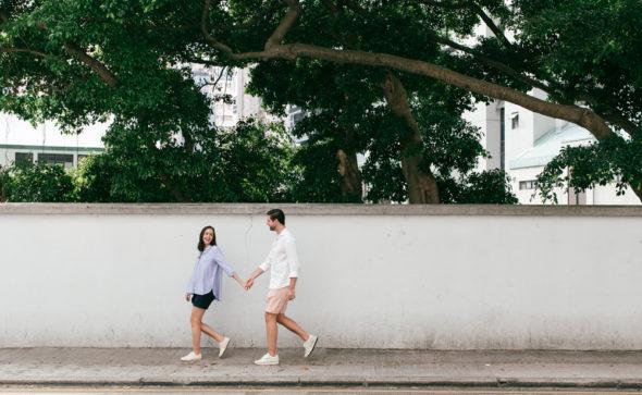 Maternity Photography Hong Kong   couple portraits in Sai Ying Pun