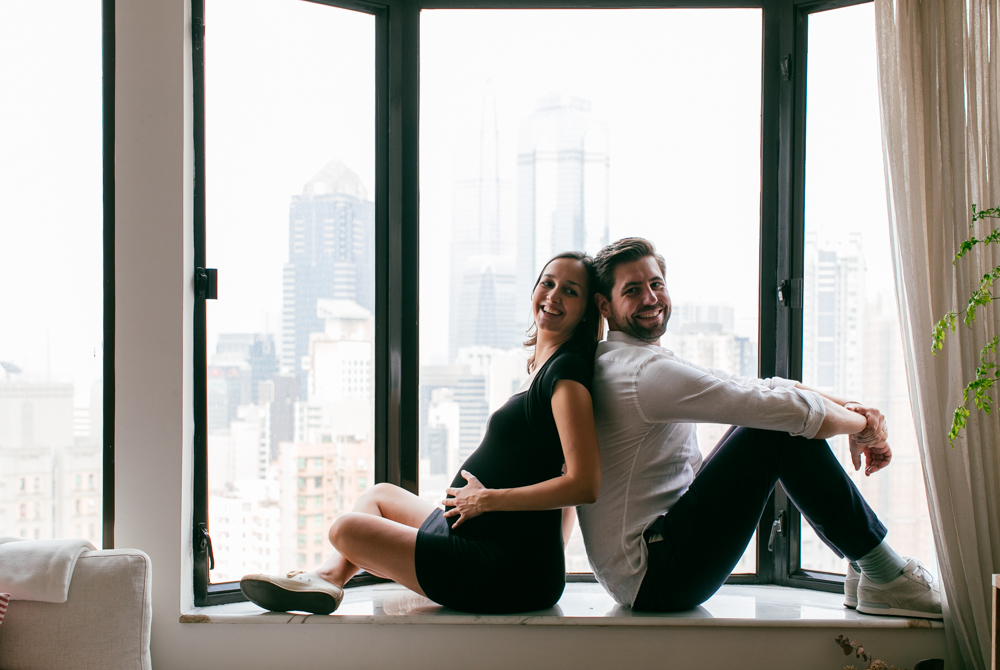 On the windowsill | Célia and Niels pregnancy photos | Hong Kong