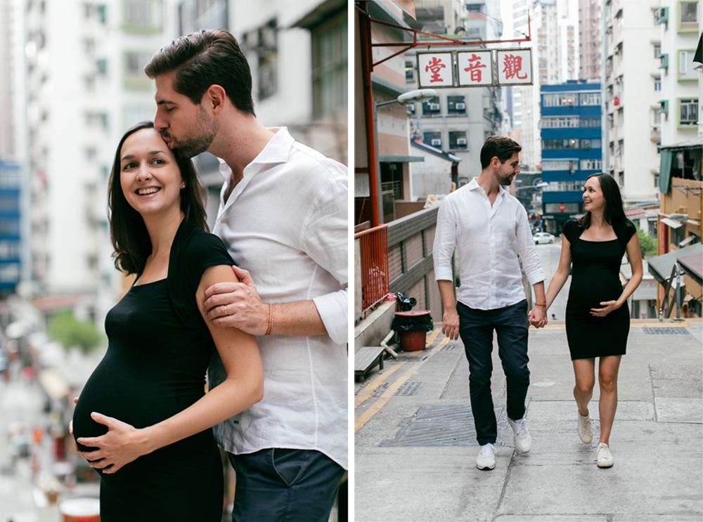 Célia and Niels – Hong Kong maternity photography in Sheung Wan