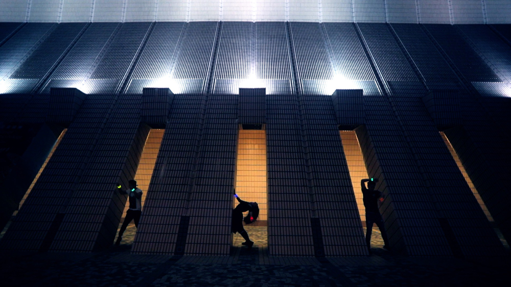 Street dancers at night | Cultural Center Tsim Sha Tsui | video campaign for Hong Kong Tourism Board | by Tracy Wong
