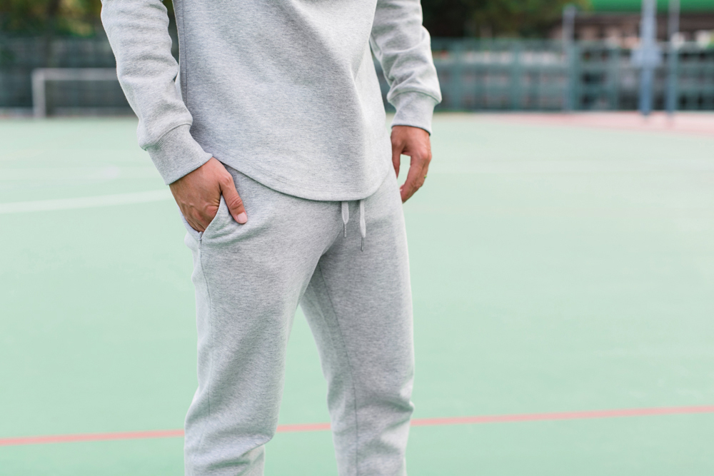 Men's heather grey sweats | UNCVR clothing