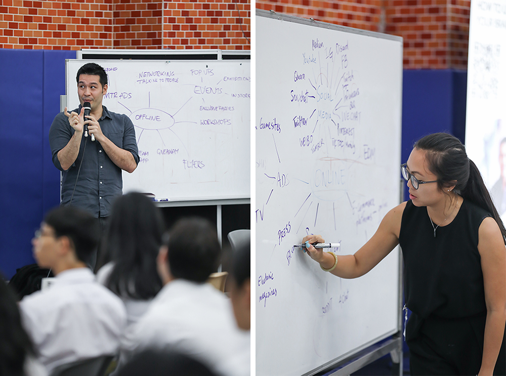 Artist Marc Allante and Photographer Tracy Wong | digital marketing discussion at OWN Academy