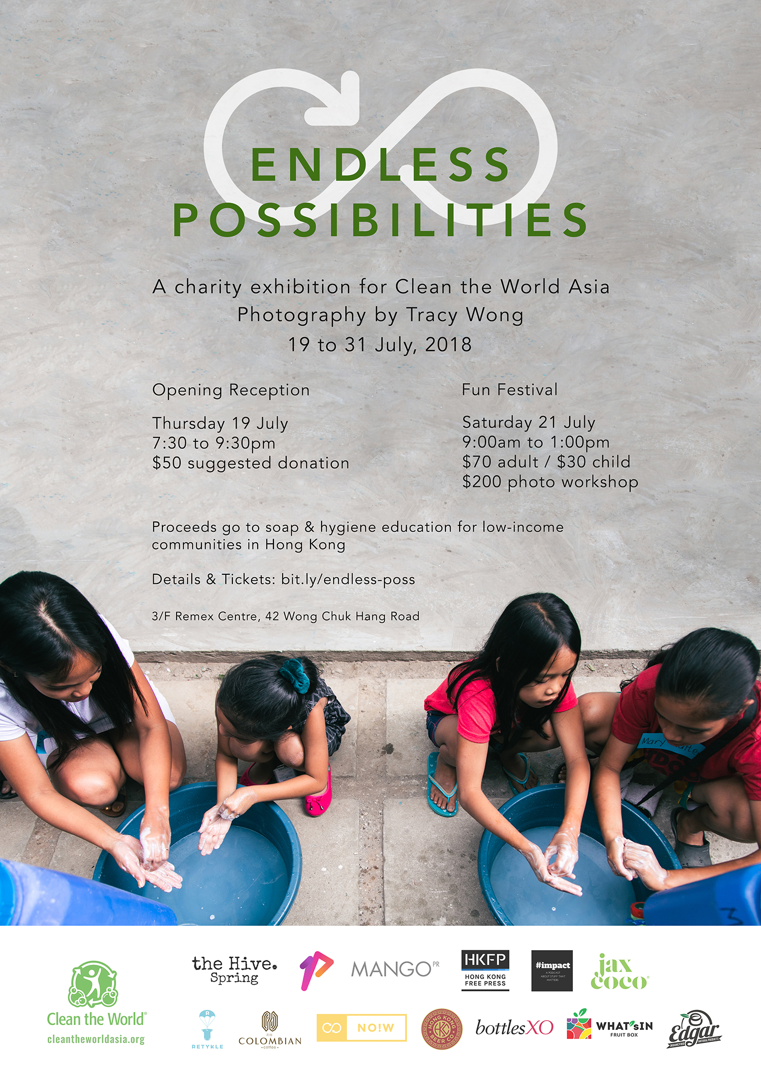 Endless Possibilities: A charity photography exhibition in Hong Kong with Clean the World Asia and photographer Tracy Wong