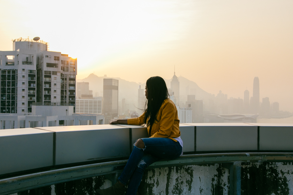 Sunset and rooftop | Causeway Bay Hong Kong