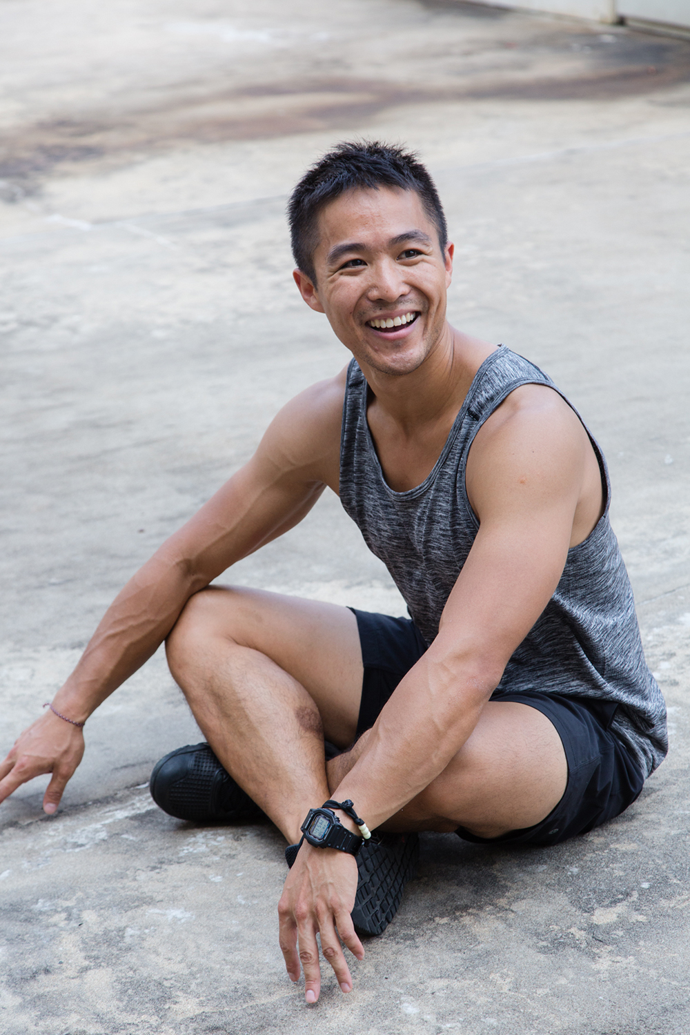 Casual portrait for athletic trainer | John Ho | Hong Kong | photo by Tracy Wong