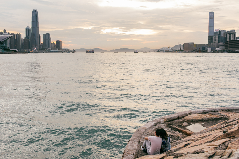 Watching the sunset | Engagement and proposal photography Hong Kong
