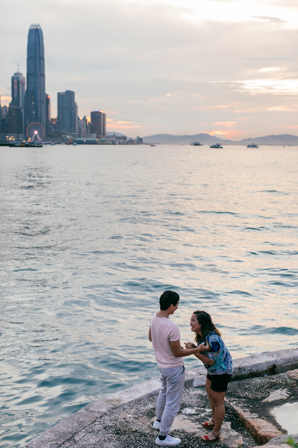 Sunset proposal Hong Kong | Victoria Harbour
