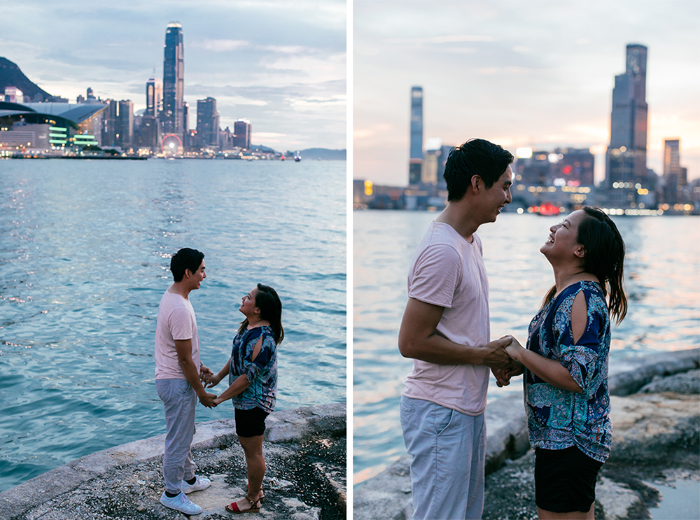 Sunset portraits in Hong Kong | Pre-wedding | Engagement | Tracy Wong
