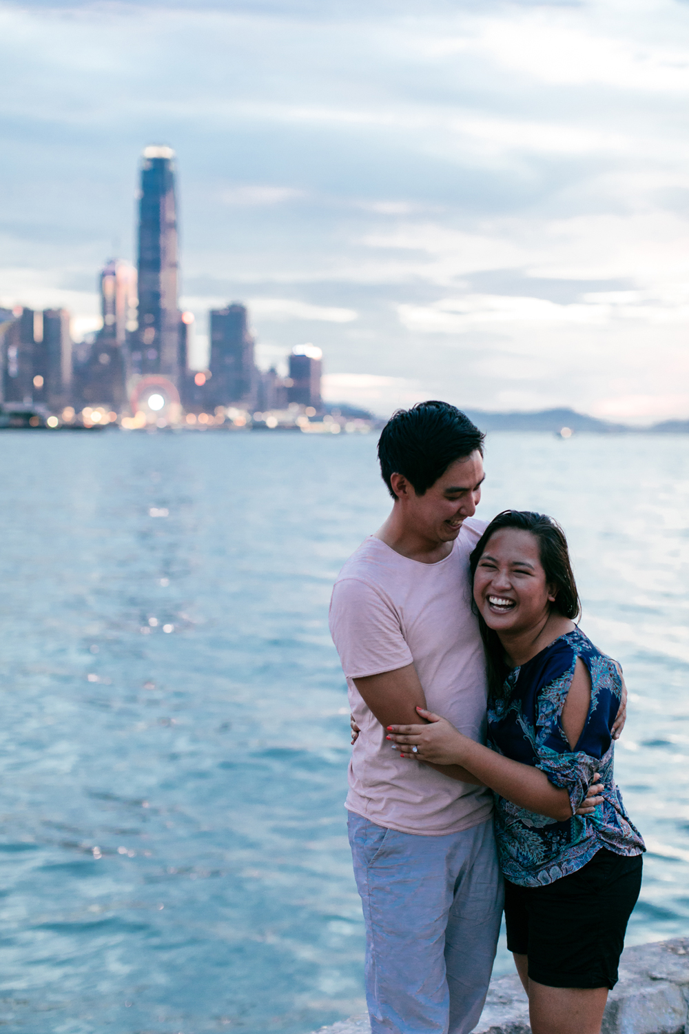 Sunset couple portraits in Hong Kong | Pre-wedding | Engagement | Tracy Wong