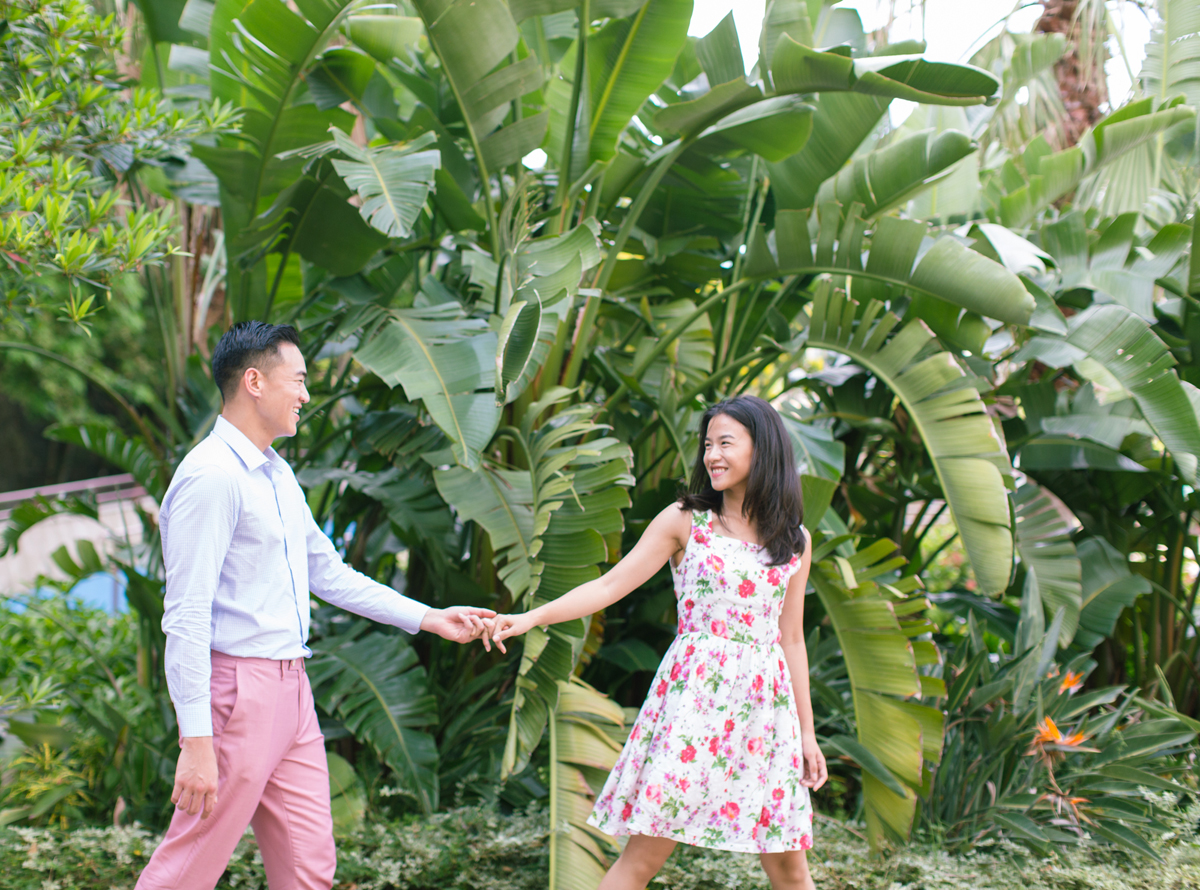 Green and Pink theme | Engagement Portraits in Hong Kong | Casei and Patrick