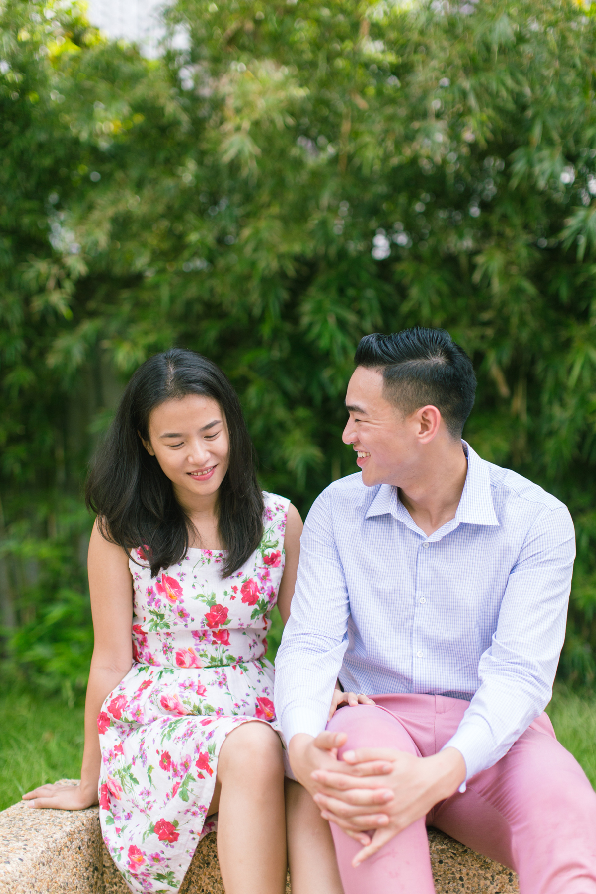 Love and Body Language | Casual engagement portraits in Hong Kong