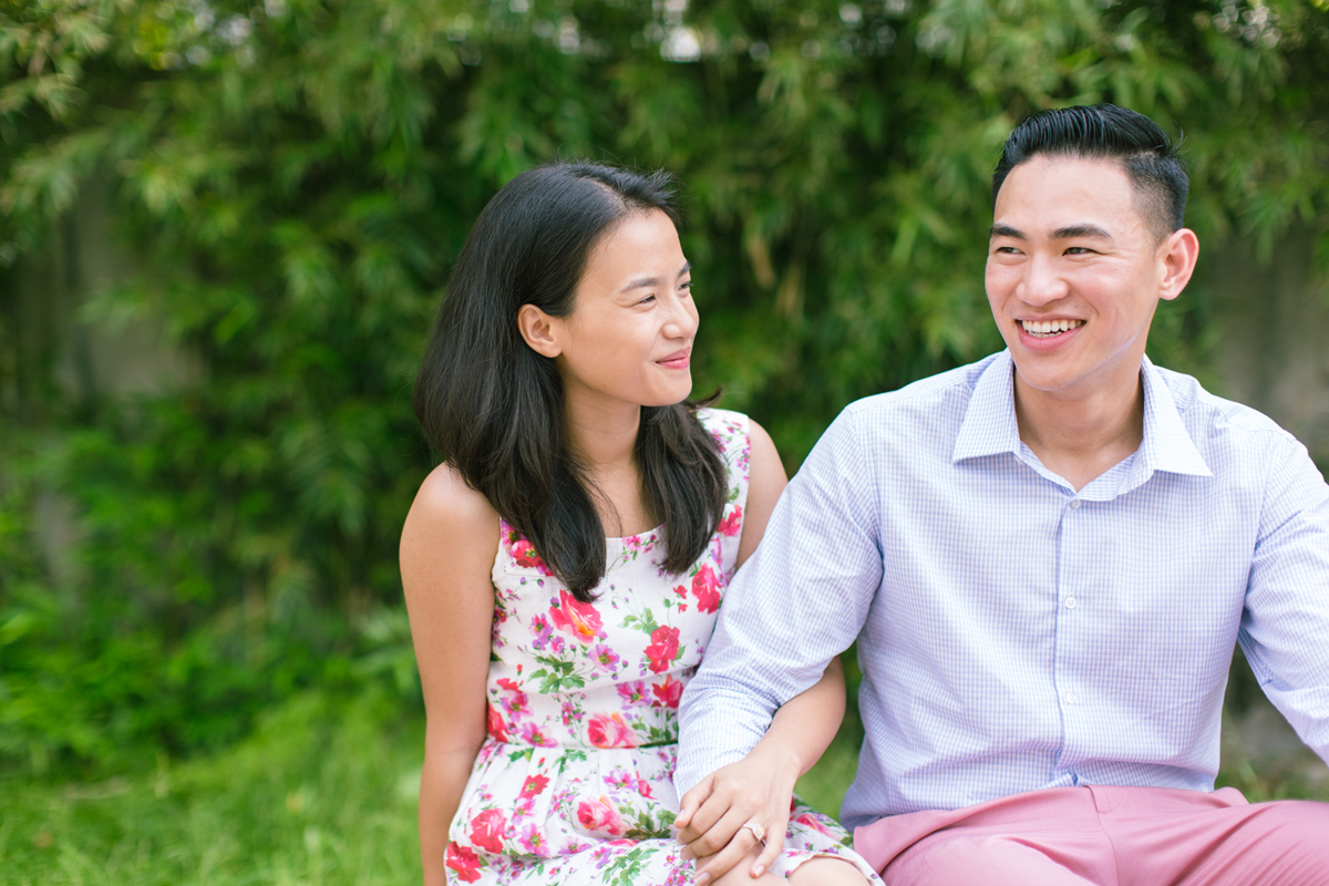 Cute with arms together | Casual engagement portraits in Hong Kong