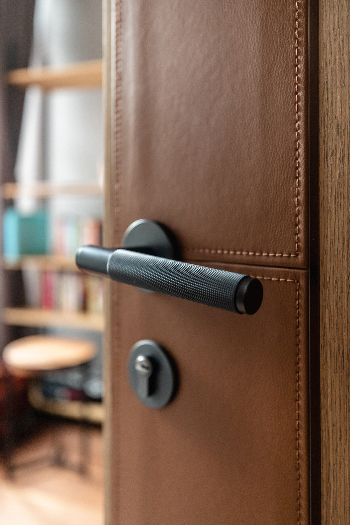 Interior design details - Leather door highlight