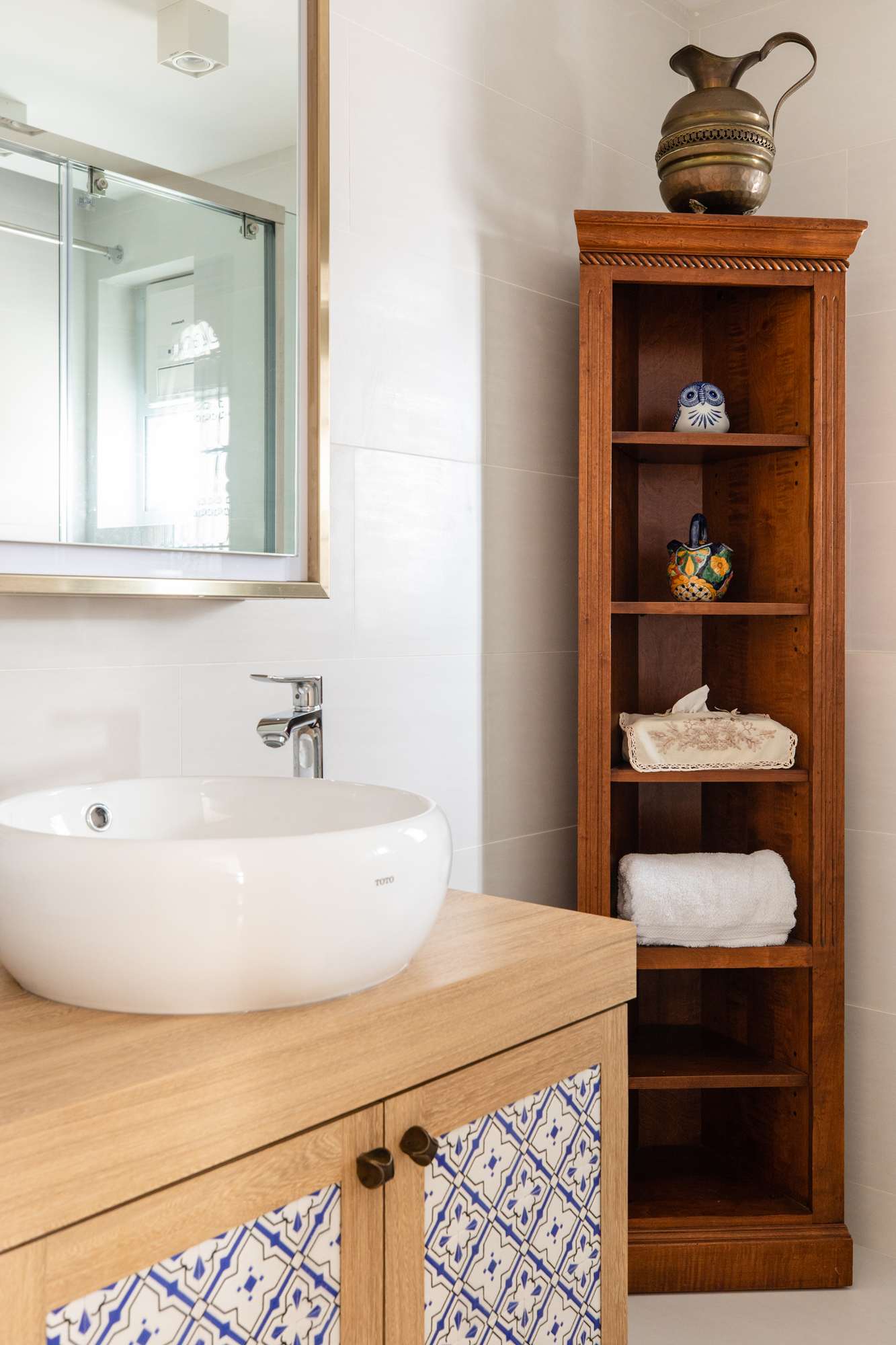 Bathroom details from homeowner's travels • Tracy Wong Photography