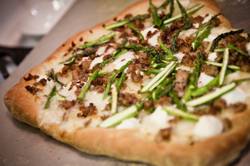 "Asparagus, Fingerling Potato, and Goat Cheese Pizza"" , Bon Appétit ..."
