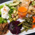 Fez Platter, Moroccan appetizers at Café Clock